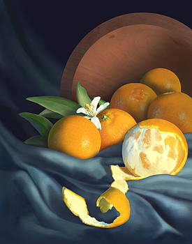 Clementine Still Life by Jessica LeClerc