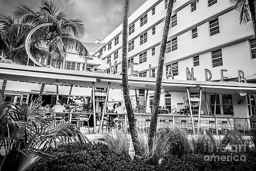 Ian Monk - Clevelander Hotel Art Deco District SOBE Miami Florida - Black and White