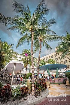 Ian Monk - Clevelander Hotel Illuminated Palms SOBE Miami Florida - HDR Sty