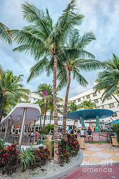 Ian Monk - Clevelander Hotel Illuminated Palms SOBE Miami Florida