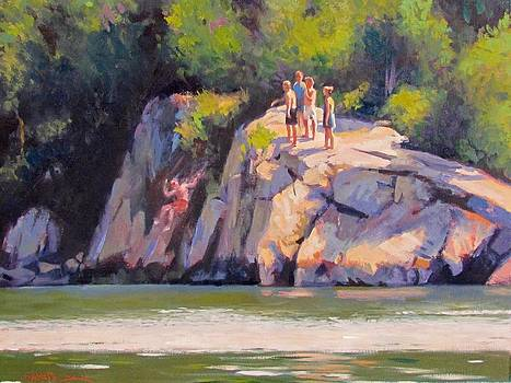 Cliff Jumping by Dianne Panarelli Miller