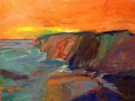 Cliffs at Sunset by Jim Noel