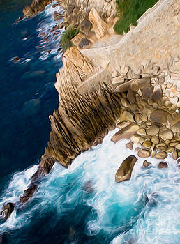 Cliffs in Acapulco Mexico Ill by Kenneth Montgomery