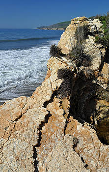 Cliffs of California's El Capitan State Beach by Bruce Gourley