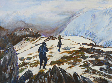 Climbers - painting by Veronica Rickard