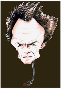 Clint Eastwood Illustration by Diego Abelenda