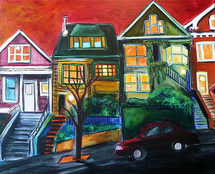 Clipper street Houses by Nathalie Fabri