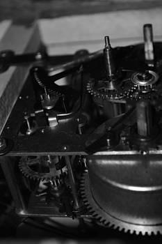 Clocks black and white by Meganne Peck