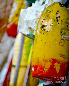Close-up of Buoy in Rock Harbor Cape Cod by Phil Hawn