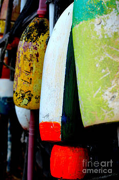 Close-up of Buoys in Rock Harbor Cape Cod by Phil Hawn