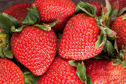 Close Up Of Delicious Strawberries by Sharon Dominick