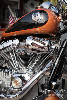 Peter Noyce - close up of harley davidson motorcycle v twin chromed engine