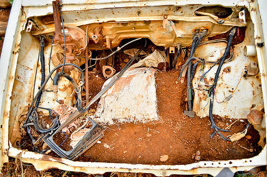 Close up of old rusty car door with space for your text by Keerati Preechanugoon