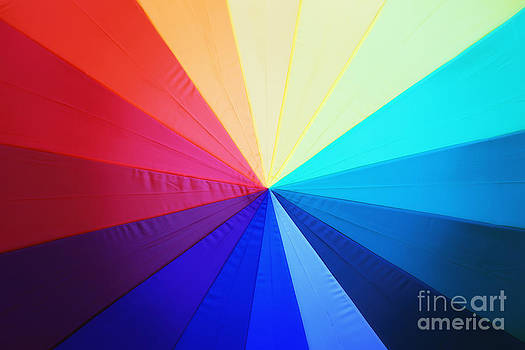 LHJB Photography - close-up of Rainbow colored Umbrella
