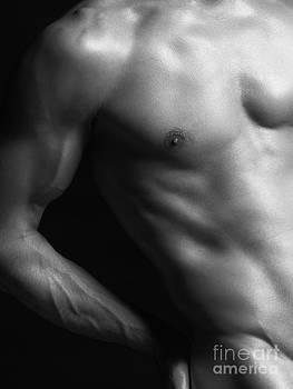 Closeup of man slim naked body by Oleksiy Maksymenko