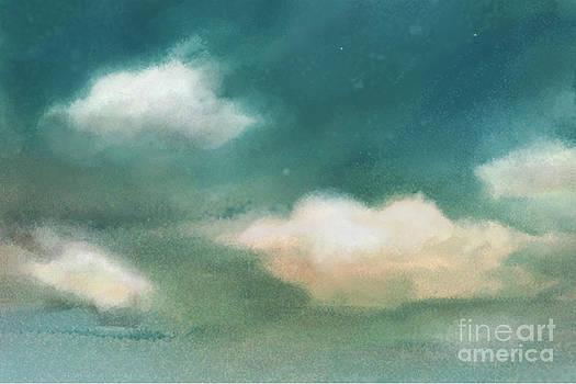 Cloud Diptych Left by Joan A Hamilton