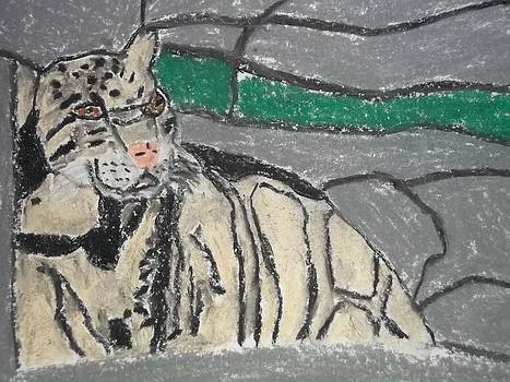 Clouded Leopard Pastel On Paper by William Sahir House