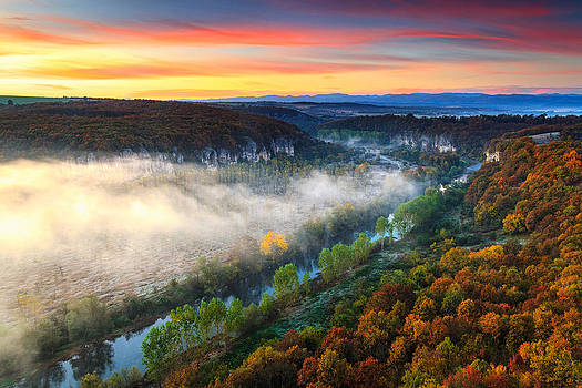Clouds Above the River by Evgeni Dinev