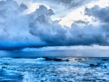 Clouds and Sea by CarolLMiller Photography