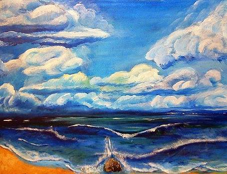 Clouds and See by Danas Zymonas