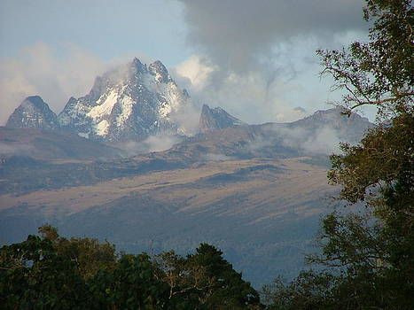 Clouds Lift from Mount Kenya by Judith Sweeney