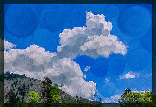 Omaste Witkowski - Clouds Loving a Friendly Mountain Landscape Painting