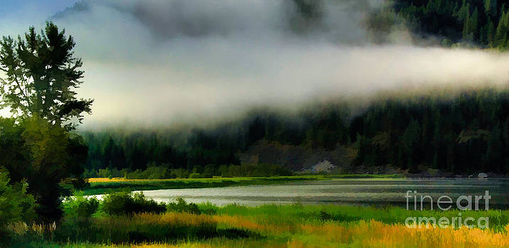 Clouds on Blue Lake by Sam Rosen