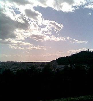 Clouds over Philopapou Hill by Katerina Kostaki