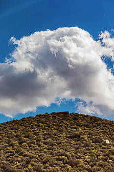 Clouds Over Sagebrush Covered Hill by Ron Koeberer