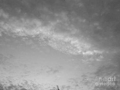 Clouds -Shapes in Black-2 by Katerina Kostaki