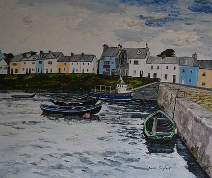 Cloudy day Roundstone Connemara by Diana Shephard