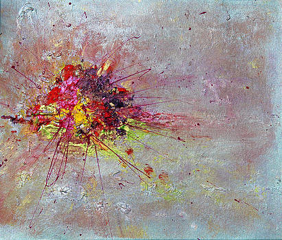 Cloudy Monday Abstract Painting by Julia Apostolova