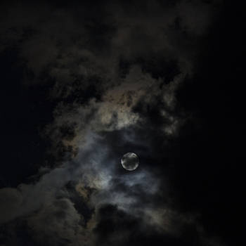 Cloudy Moon 2 by Alfredia Mealing