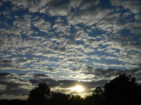 Cloudy sky by Linda Brown