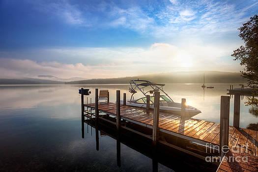 Jo Ann Snover - Cloudy sunrise over dock