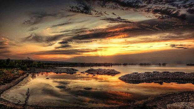 Cloudy Sunset by Jeff S PhotoArt