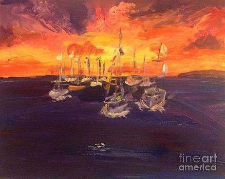 Clyde boats by Michelle Hynes