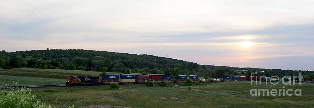 CN Railroad Sunset by TommyJohn PhotoImagery LLC