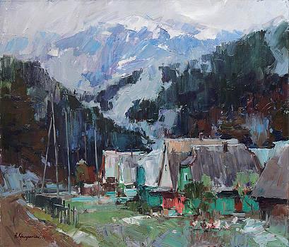 Snow in the mountains by Aleksander Kryushyn