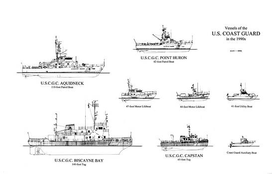 Jerry McElroy - Public Domain Image - Coast Guard Cutters of the 1990