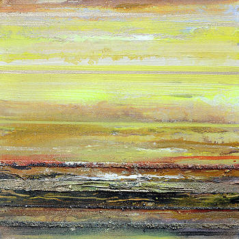 Coast Rhythms and textures Yellow and sepia by Mike   Bell