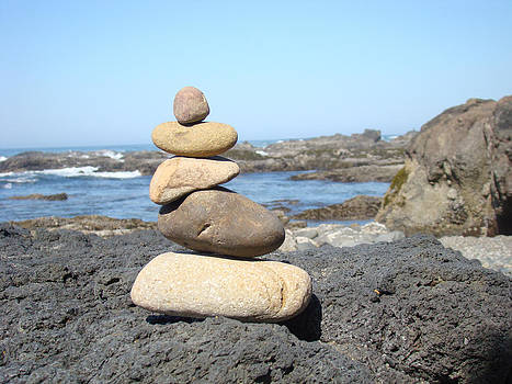 Baslee Troutman - Coastal Beach Rock Stacking art Prints