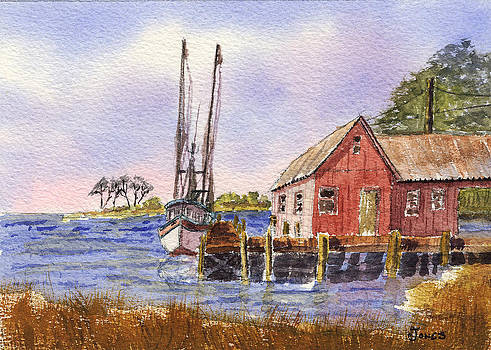 Shrimp Boat - Boat House - Coastal Dock by Barry Jones