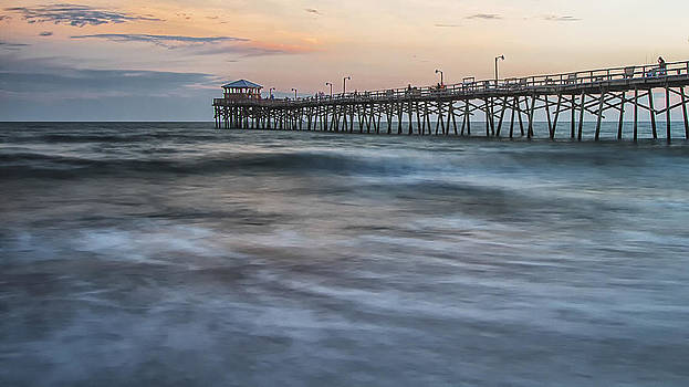 Coastal Fishing Pier at Sunset by Bob Decker