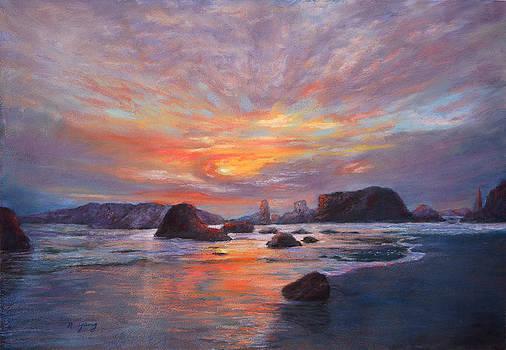 Coastal Sunset by Nancy Yang