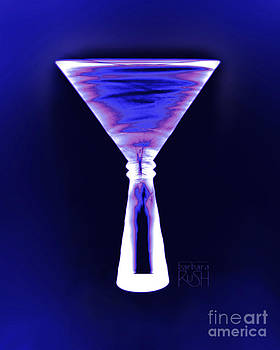 Cobalt with Purple Fringe Martini by Barbara Rush