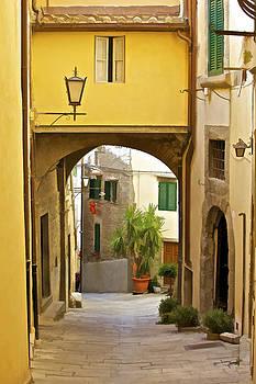 David Letts - Cobblestone Street of Tuscany