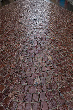 Cobblestones In The Rain by Charles Lupica