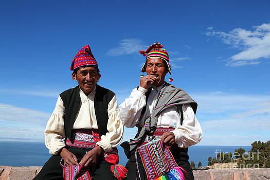 James Brunker - Coca Break on Taquile Island Peru