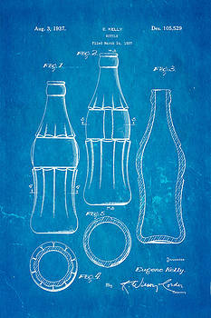 Ian Monk - Coca Cola Bottle Patent Art 1937 Blueprint